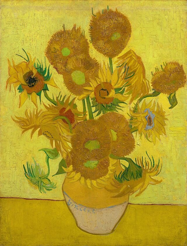 Jarrón con catorce girasoles       Museo van Gogh ,  Ámsterdam ,  Países Bajos .